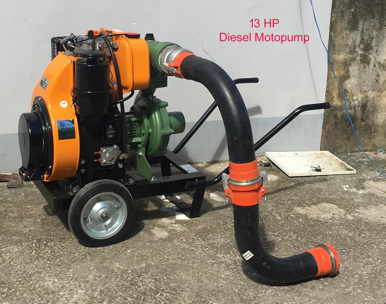 Motobomba Diesel 13 HP con Descarga