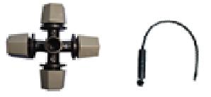 Nebulizador de 4 salidas con soporte, contrapeso y valvula anti goteo